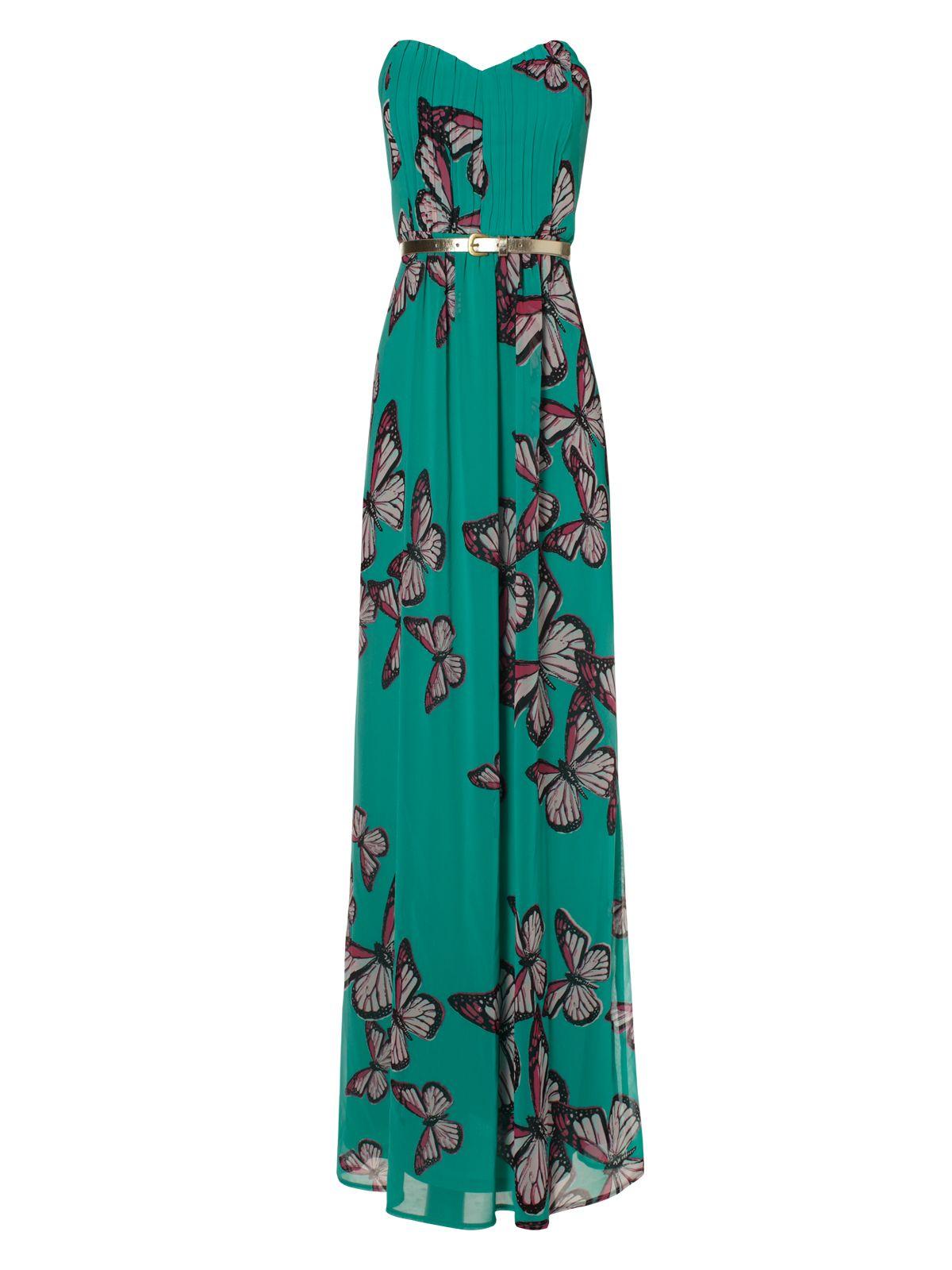 Next green butterfly maxi dress