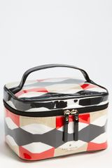 Kate Spade Abstract Signature Bow Small Natalie Cosmetics Case - Lyst
