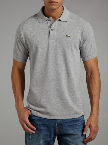 Lacoste Classic Marl Polo Shirt In Gray For Men Light
