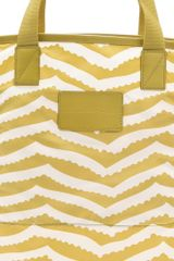 Marc By Marc Jacobs Packables Zora Stripe Shopper Tote in Yellow (green) - Lyst