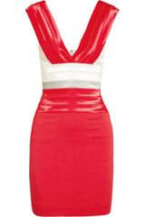 Markus Lupfer Bandage and Twill Dress - Lyst