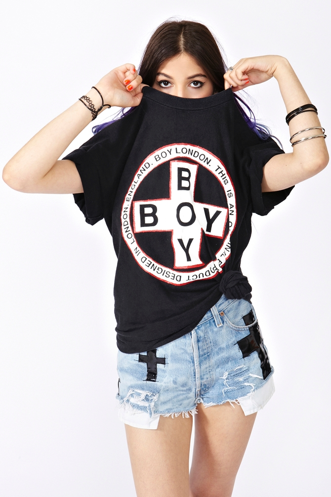 Lyst Nasty Gal Boy London Logo Tee In Black
