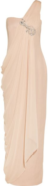 Notte By Marchesa Embellished Silkchiffon and Crepe Gown - Lyst