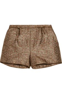 RED Valentino Metallic Brocade Shorts - Lyst