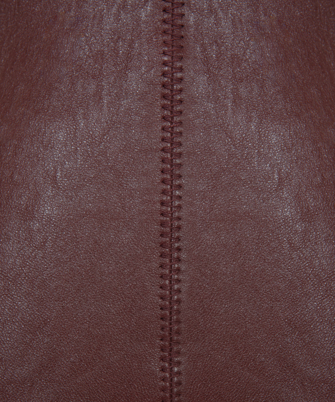 4a4ae610b64d Lyst alexander wang burgundy leather aline mini skirt in purple jpg  1250x1500 Burgundy leather