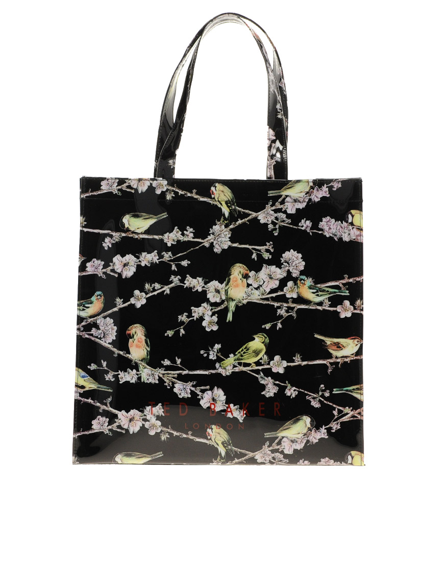 ted baker avah shopper bag in animal natural lyst. Black Bedroom Furniture Sets. Home Design Ideas
