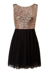 Tfnc Sequin Top Prom Dress in Black - Lyst