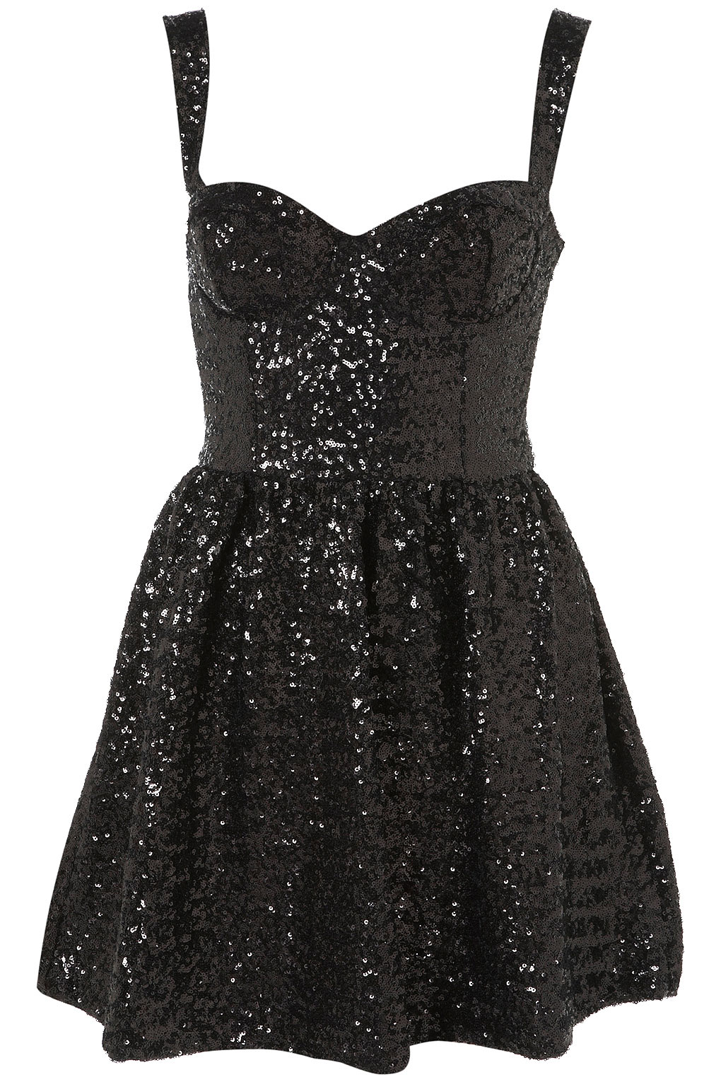 Topshop Sequin Strappy Prom Dress In Black Lyst