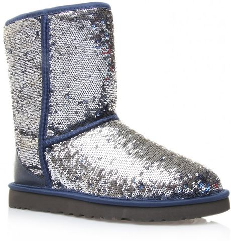 Sequin Uggs http://www.lyst.com/shoes/ugg-classic-short-bluesequin/