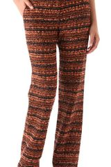 Willow Woven Wide Leg Trousers - Lyst