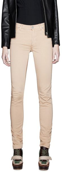 Acne Flex Satin Nude in Beige (nude) - Lyst