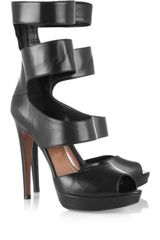Alaïa Leather Platform Sandals