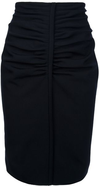Balenciaga Wool Blend Pencil Skirt - Lyst