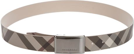 Burberry Smoked Check Betsy Belt in Beige (nude) - Lyst