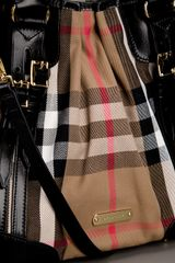 Burberry Strap Detail Tote in Brown (nude) - Lyst