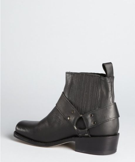dolce vita black leather wilix motorcycle boots in black