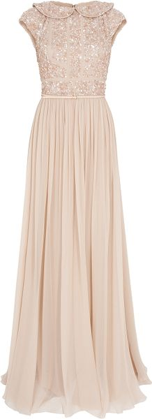 Elie Saab Cap Slb Beaded Top Silk Gown - Lyst