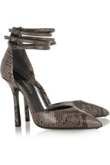 Emilio Pucci Pythoncovered Leather Sandals - Lyst