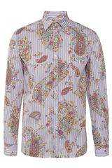 Etro New Warrant Paisley Shirt - Lyst