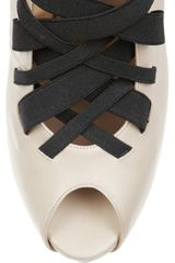 Georgina Goodman Lacey Leather Mules in Beige (cream) - Lyst