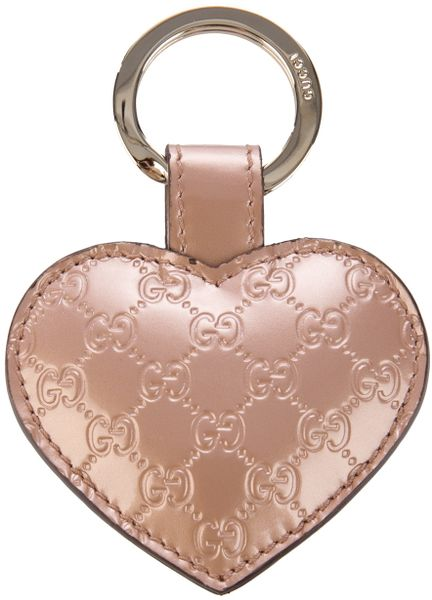 Gucci Heart Key Charm in Pink - Lyst