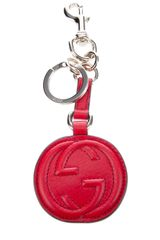 Gucci Leather Key Chain Cellarius in Red - Lyst
