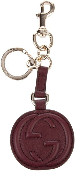Gucci Leather Key Charm in Red - Lyst