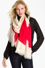 Kate Spade Abstract Signature Bow Wool Scarf - Lyst