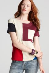 Marc By Marc Jacobs Constructivist Color Block Knit Top - Lyst