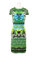 Mary Katrantzou Textured Silk Flare Dress