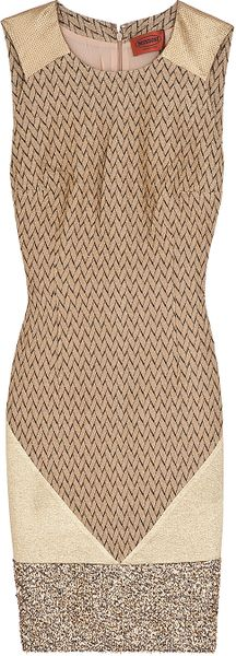 Missoni Tinsle Hem Dress in Brown - Lyst