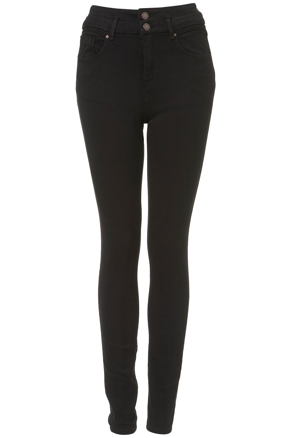 Topshop High Waist Skinny Jeans in Black | Lyst
