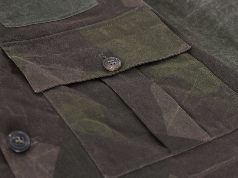 89b5745b92ae Nigel Cabourn Camo Cape Cameraman Jacket in Green for Men - Lyst