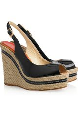 Paloma Barceló Lucy Patentleather Espadrille Wedge Sandals - Lyst