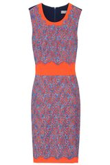 Preen Ingrid Contrast Lace Dress in Purple (nude) - Lyst