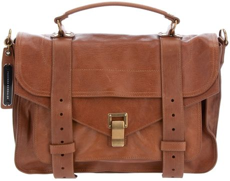 Proenza Schouler Ps1 Medium Satchel in Brown - Lyst