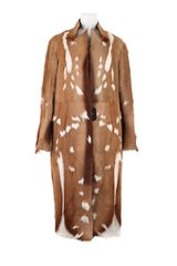 Revillon Maxi Coat in Short Haired Natural Antilop Fur in Brown (natural) - Lyst