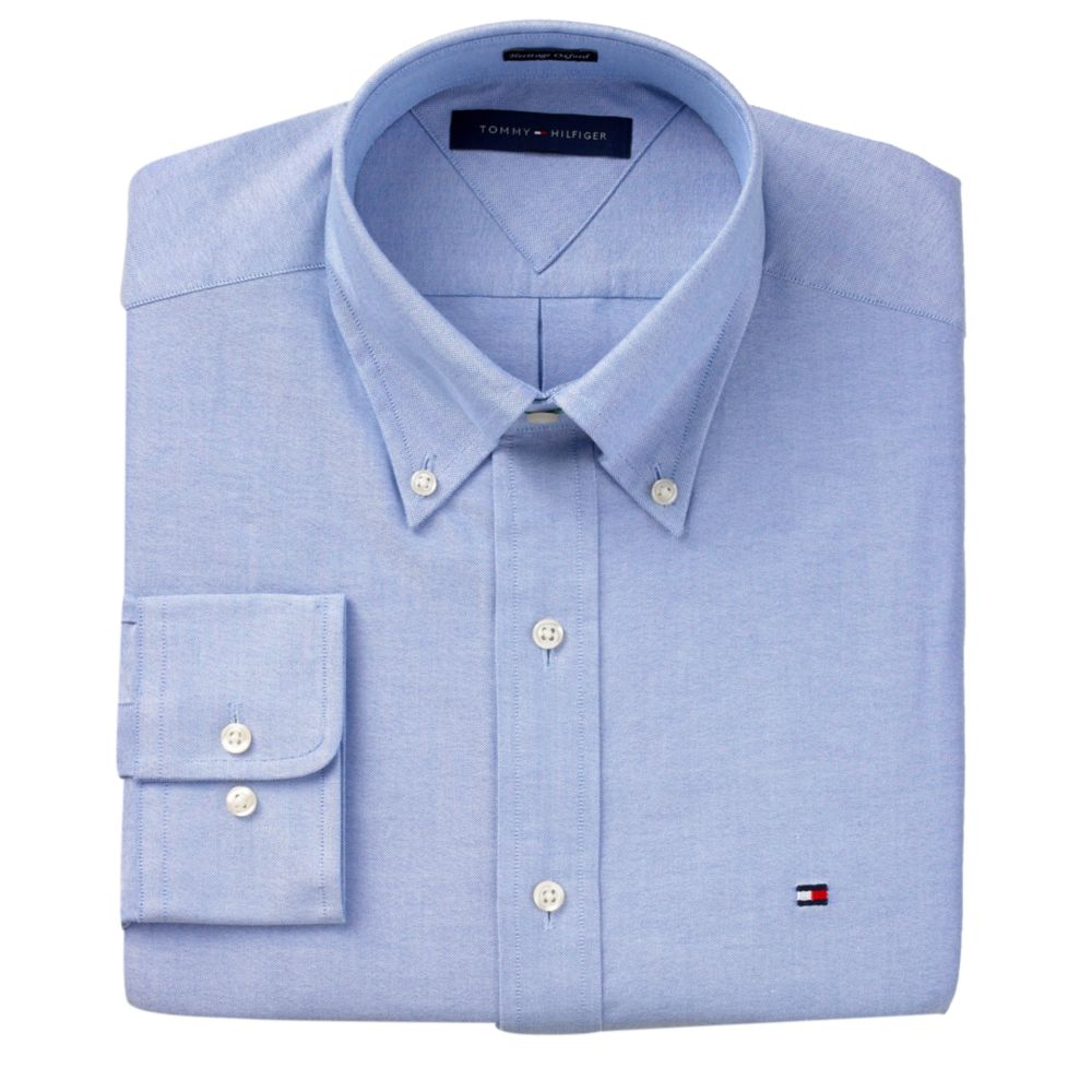 a36d74cf Tommy Hilfiger Slim Fit Heritage Oxford Solid Long Sleeve Shirt in ...