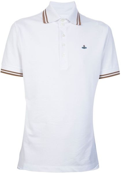 Vivienne Westwood Print Polo Shirt in White for Men - Lyst