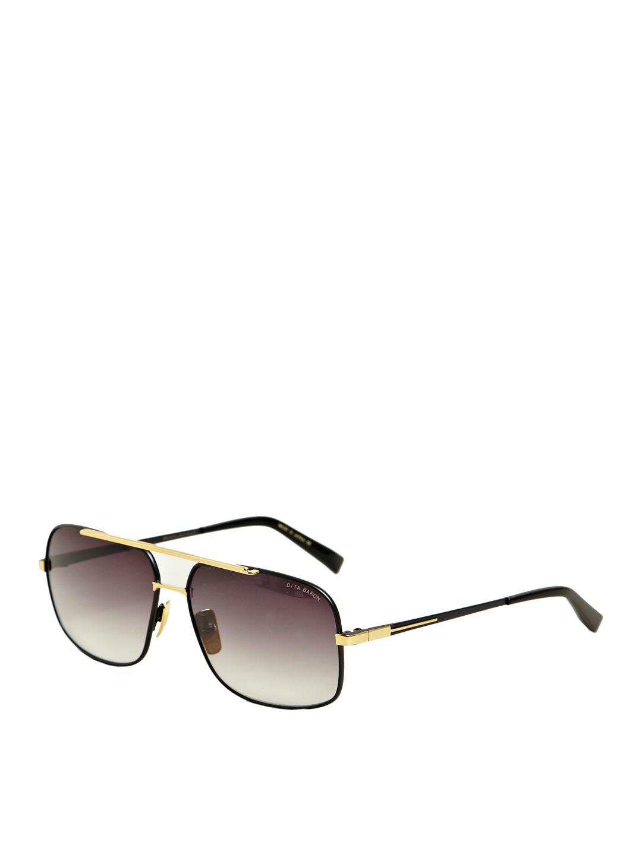 Golden Frame Black Sunglasses : Dita Black Eighteen Carat Gold Frame Sunglasses in Black ...