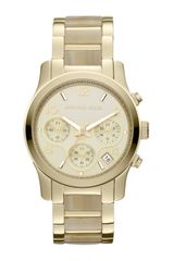 Michael Kors Stainless Steel Runway Chronograph Watch - Lyst