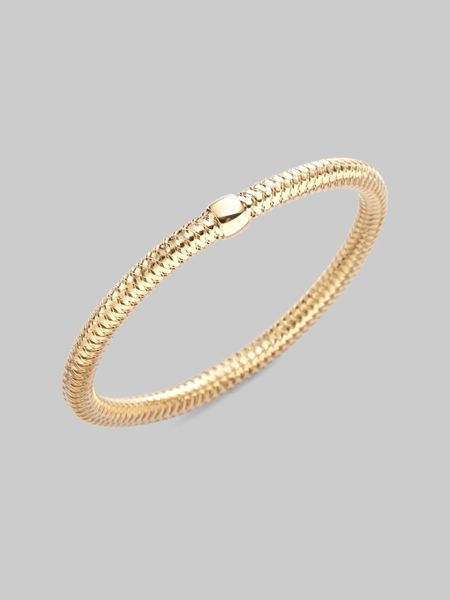 Roberto Coin 18k Yellow Gold Bracelet in Gold - Lyst