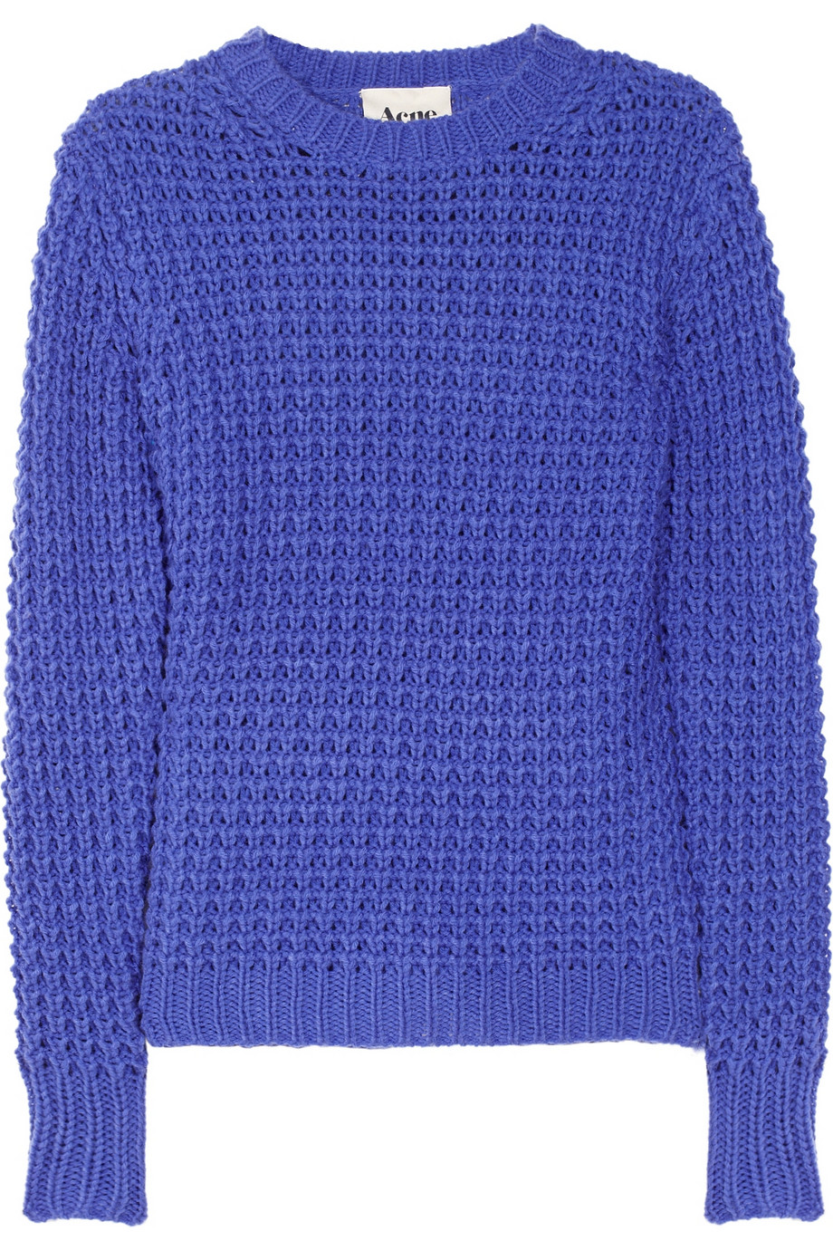 Acne studios Lina Pineapple Chunky Open-knit Sweater in Purple | Lyst