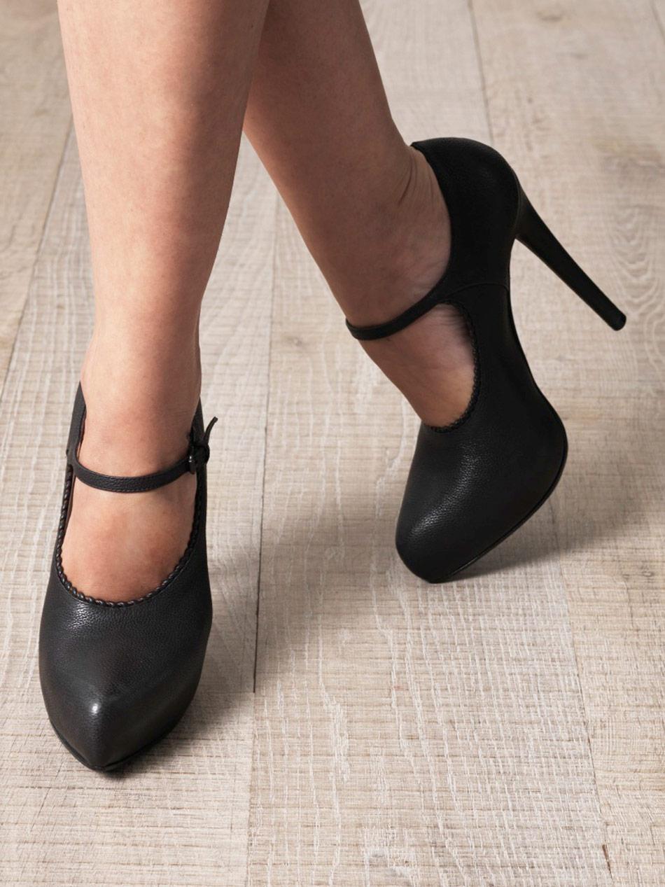 Bottega veneta Mary Jane High Heel Shoes in Black