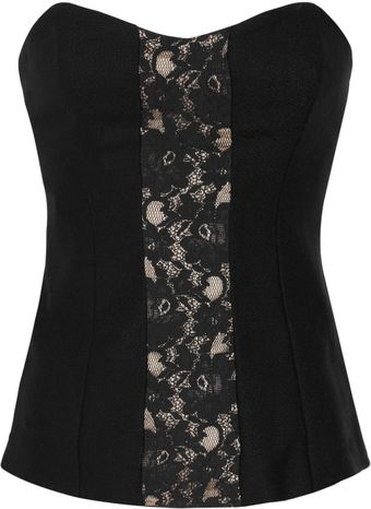 By Malene Birger Lace and Wool Corset Top - Lyst