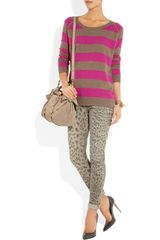 Crumpet Striped Cashmere Sweater in Pink (mouse) - Lyst