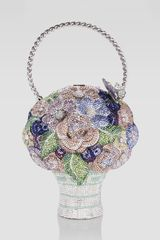 Judith Leiber Crystal Flower Basket Bag - Lyst