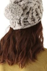Maison Martin Margiela Knit Pom Pom Hat in Gray - Lyst