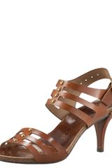 Pedro Garcia Studded Leather Cutout Sandal - Lyst