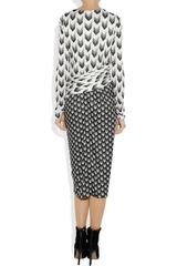 Rag & Bone Rani Printed Jersey Dress in Gray (black) - Lyst
